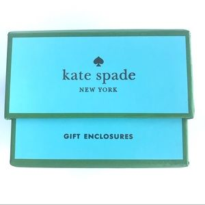 Kate Spade mini gift enclosure cards branded box